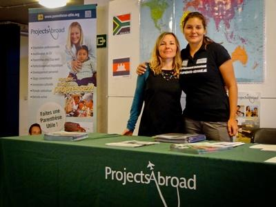 Projects Abroad staff at a careers fair