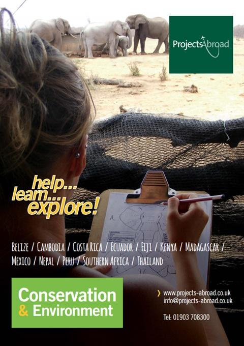 Projects Abroad Leaflet - Conservation