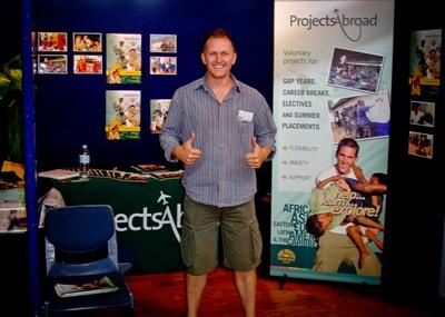 A Projects Abroad staff member at a careers fair