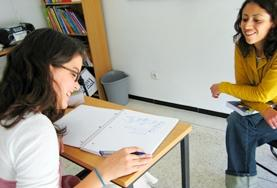 A Mongolian language students during a lesson at her placement in Mongolia