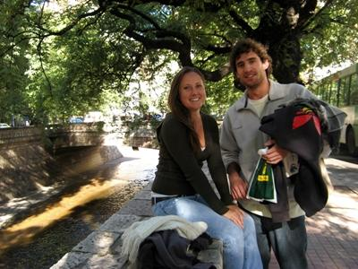 Projects Abroad volunteers on the streets of Cordoba, Argentina