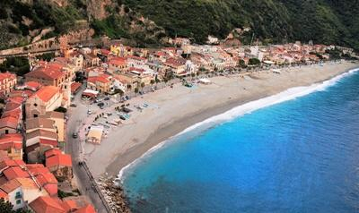 A view of the beachfront in Scilla
