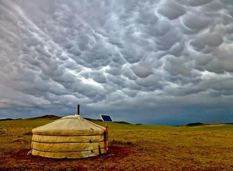 A hut pictured in Mongolia, a Projects Abroad volunteer destinatio