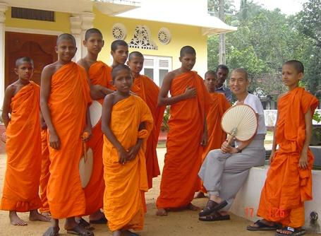 Young Buddhist monks in Sri Lanka, Asia