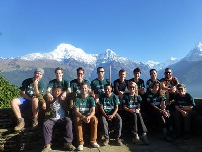 A Group of volunteers at the conservation project in Nepal