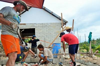 Building volunteers in the Philippines
