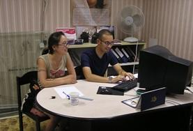 Business Project volunteers finalise thyeir work at a placement in Mongolia