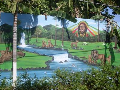 A mural painted on the Community project, Jamaica