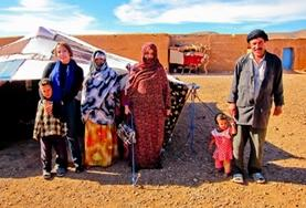 A Moroccan nomad family at one of our volunteer cultural immersion placements.