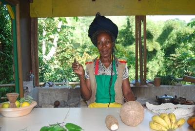 A local woman in a Rastafarian village, where our Rastafarian volunteer project is based