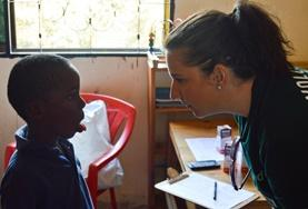 A Speech Therapy intern gains work experience by assessing a child in Tanzania with speech and language difficulties.