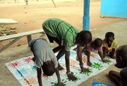 Children participate in physical activities on an Occupational Therapy Project in Ghana