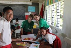 High School Special volunteers work with school children at our Care & Community placement in Samoa.