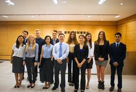 Law and Business interns pose for a picture following a workshop in China