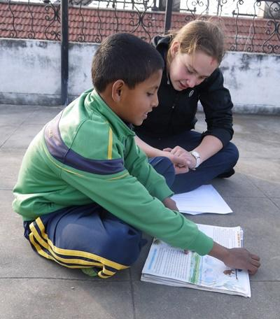 Female Projects Abroad volunteer at a Teaching project in Nepal