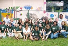 A group of Veterinary Medicine volunteers spending time at a veterinary and animal care clinic in Sri Lanka.